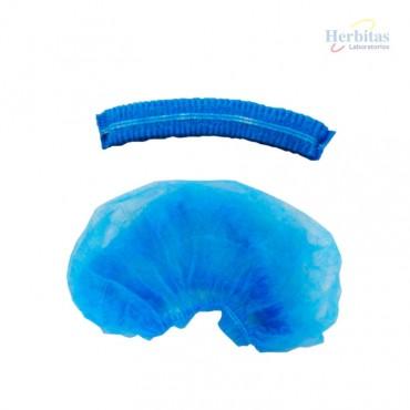 gorro cirugia no tejido azul