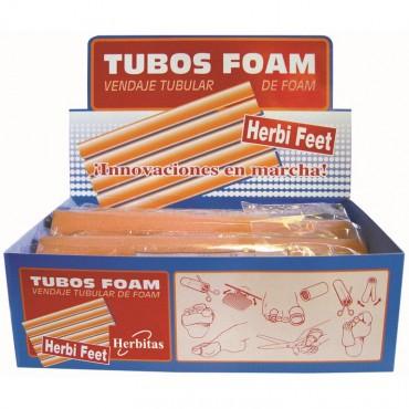 expositor tubos foam