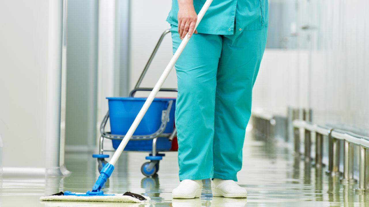 Desinfección y limpieza en clínicas y hospitales
